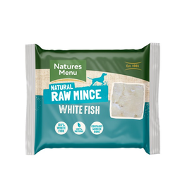 Natures Menu NM White Fish Mince 400g Block Single