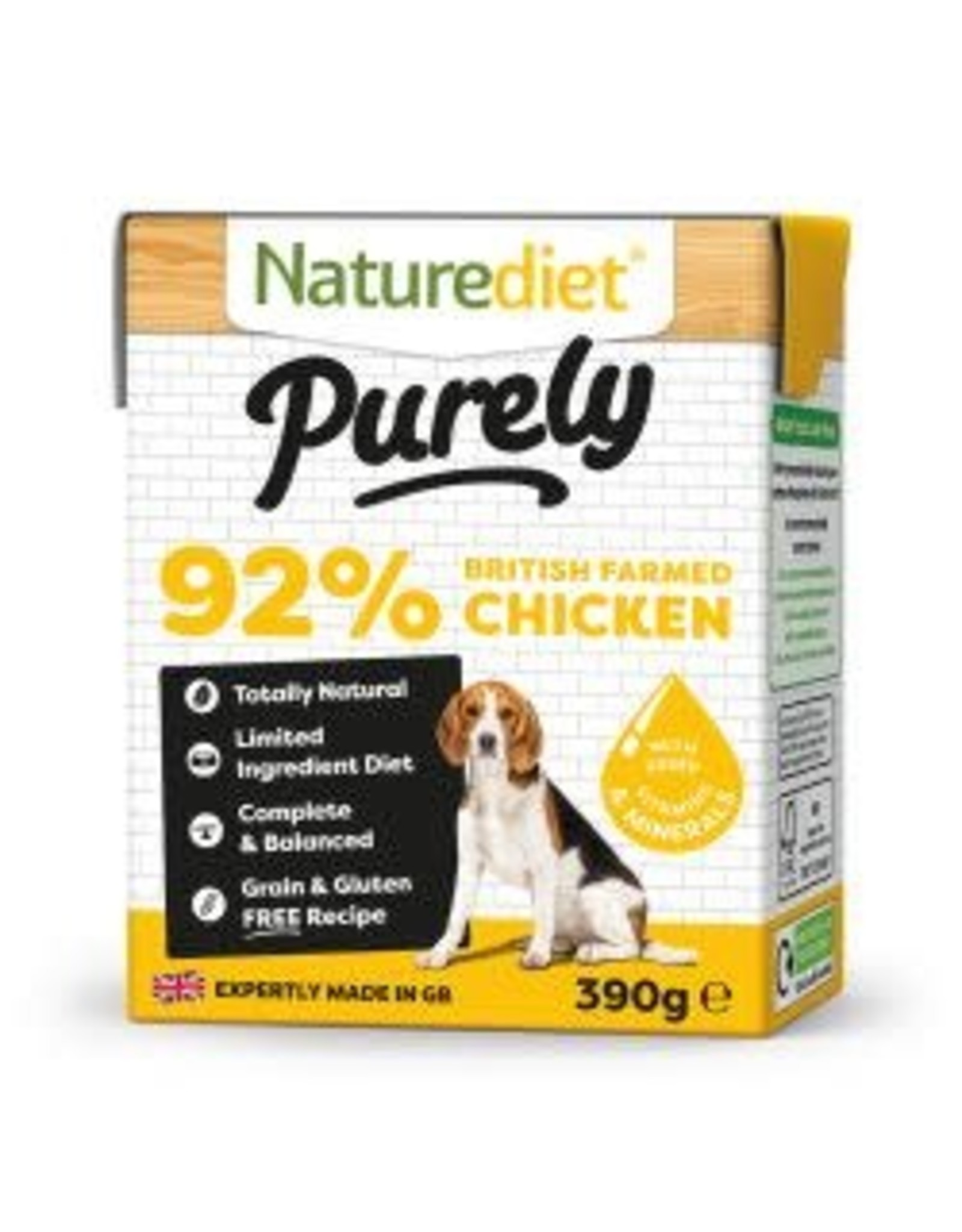 Nature Diet Nature Diet Purely Chicken 390g