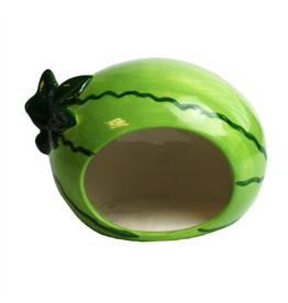 Happy Pet Small Animal Ceramic Hideout Watermelon