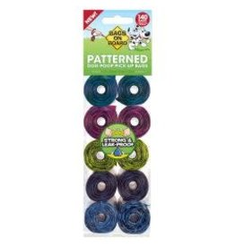 Bags On Board Bags On Board Poo Bag Refils Patterned 140 Pack
