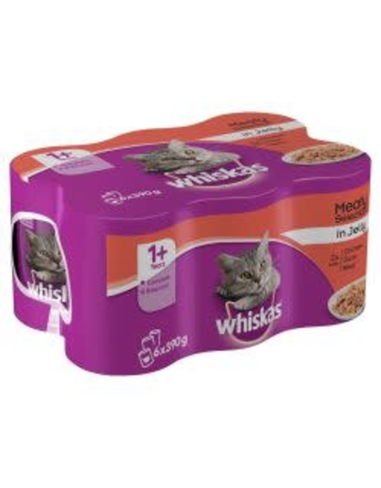 Whiskas Whiskas 1+ Can Meat Selection 6 x 390g