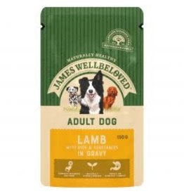 James Wellbeloved JW Adult Dog Pouch MEGA Pack Lamb With Rice In Gravy