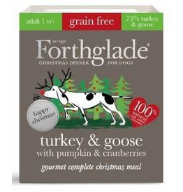 Forthglade Forthglade Gourmet Christmas Turkey & Goose Tray Single
