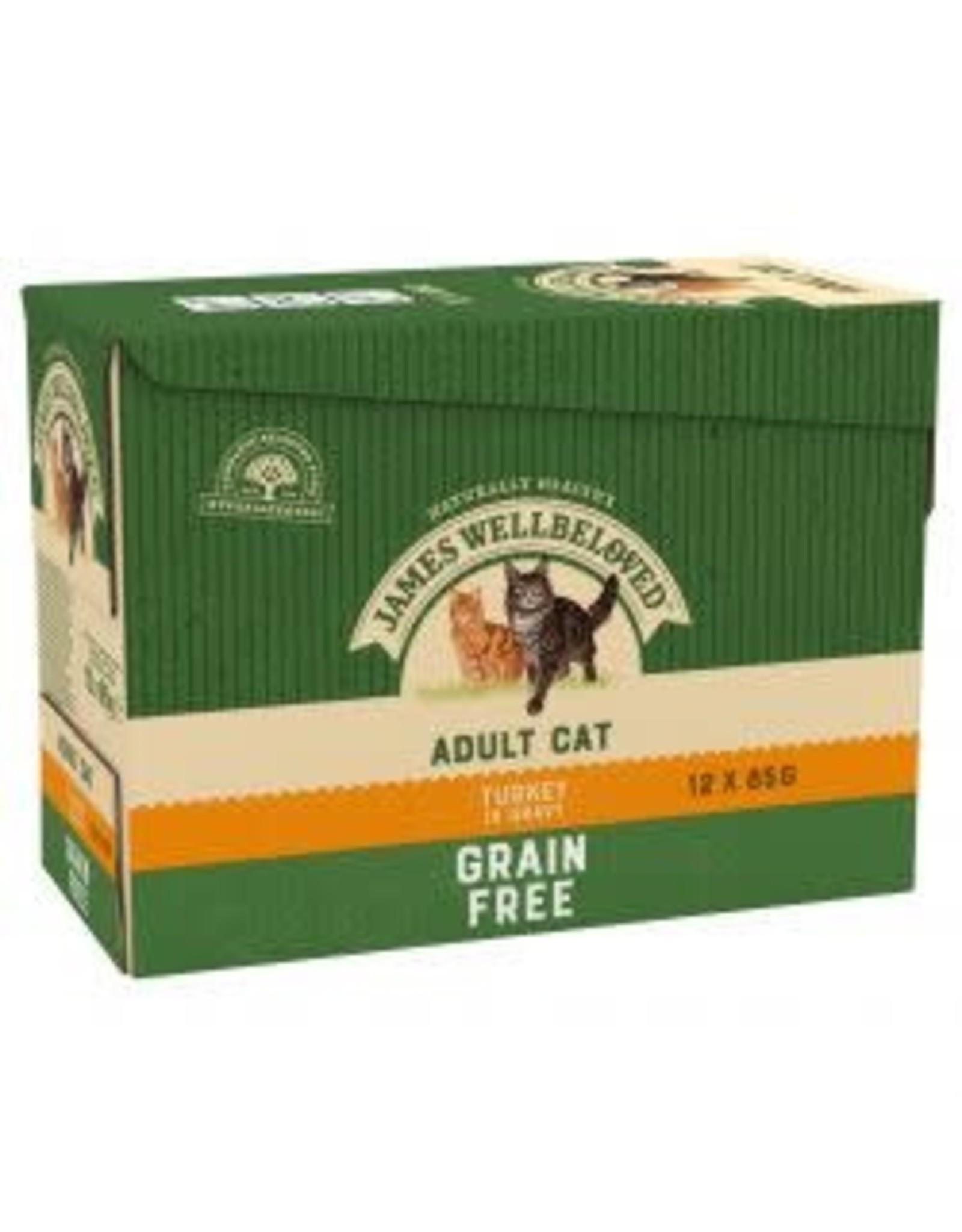 James Wellbeloved JW Cat Pouch Grain Free 12 x 85g Turkey