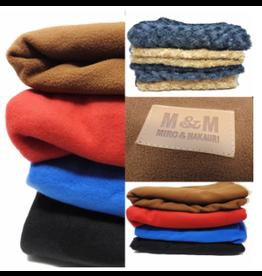Miro Makauri Makauri Circle Fleece Blanket Grey/Brown Med