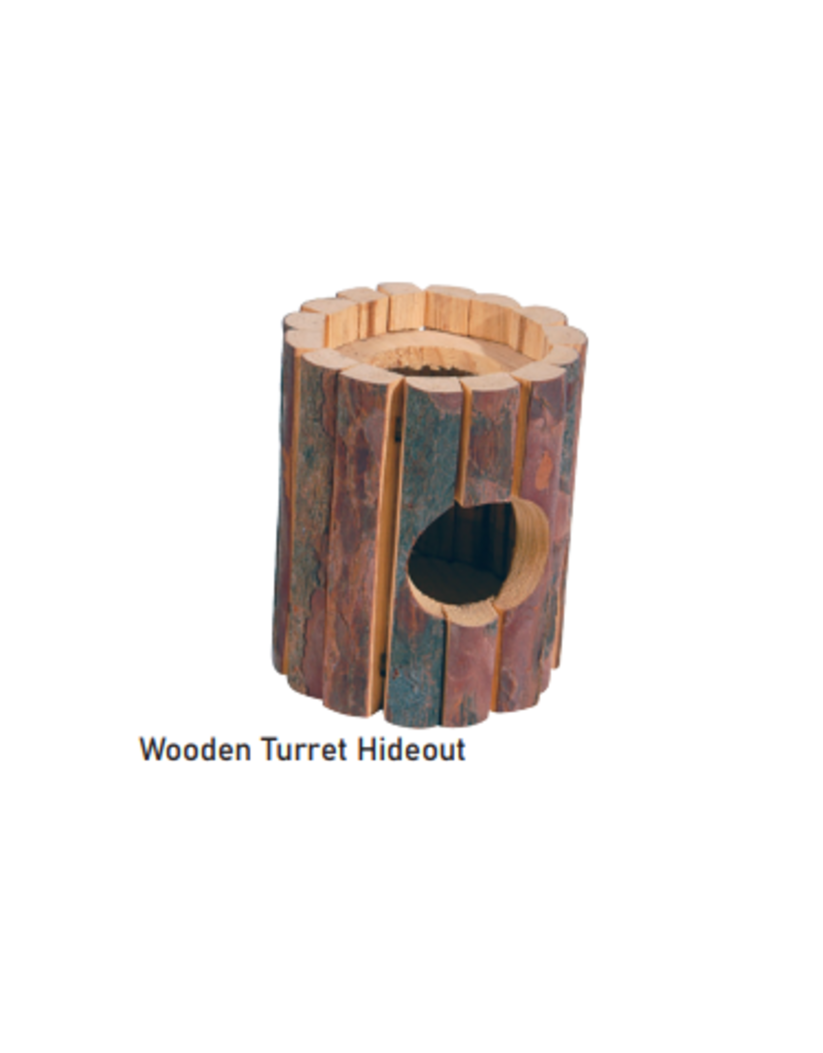 Sky Pet Products Wooden Turret Hideout Medium