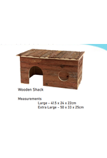 Sky Pet Products Wooden Shack Hideaway Extra Large