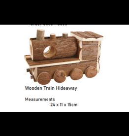 Sky Pet Products Wooden Train Hideaway