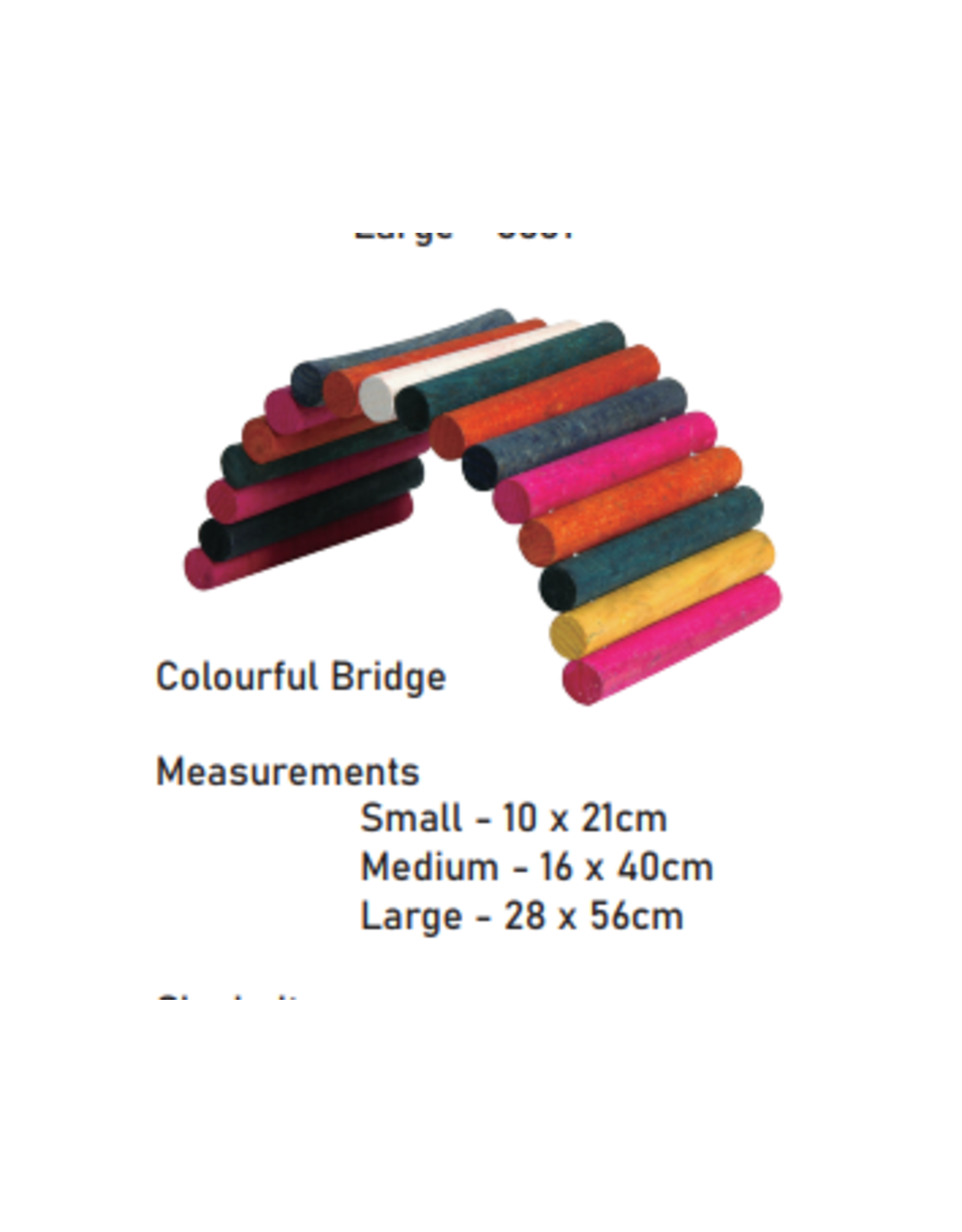 Sky Pet Products Wooden Colourful Bridge Small