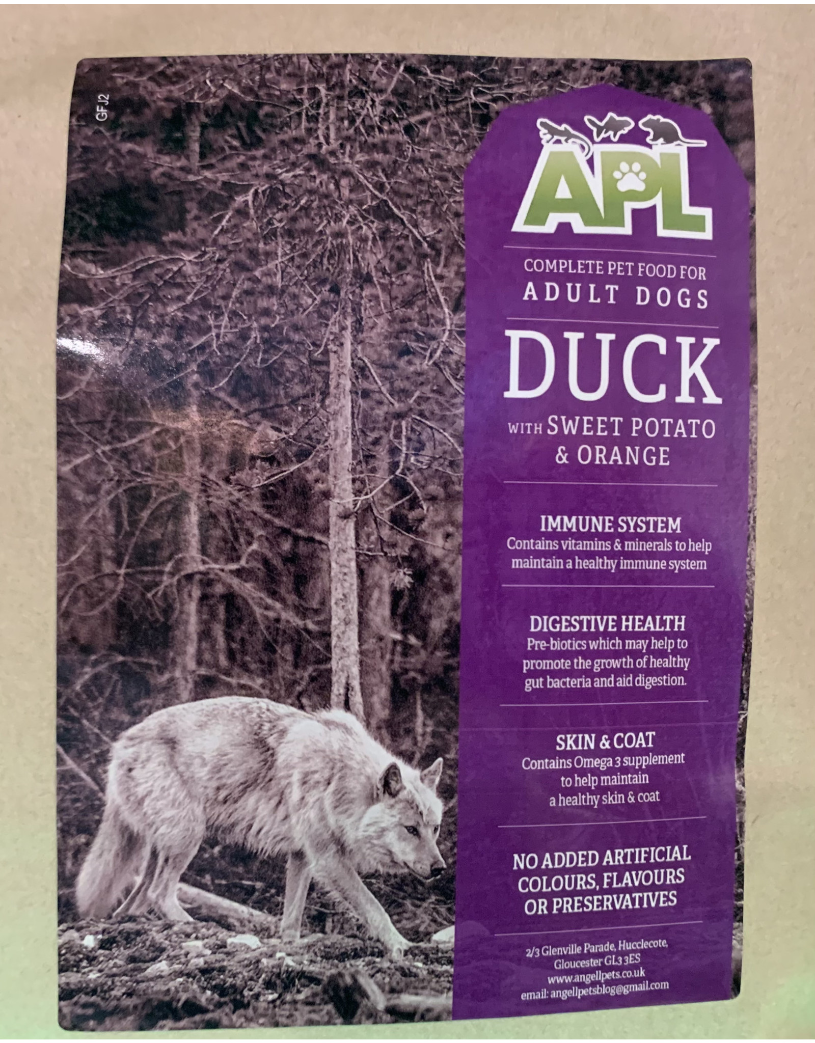 APL APL  Grain Free Adult Duck With Sweet Potato And Orange