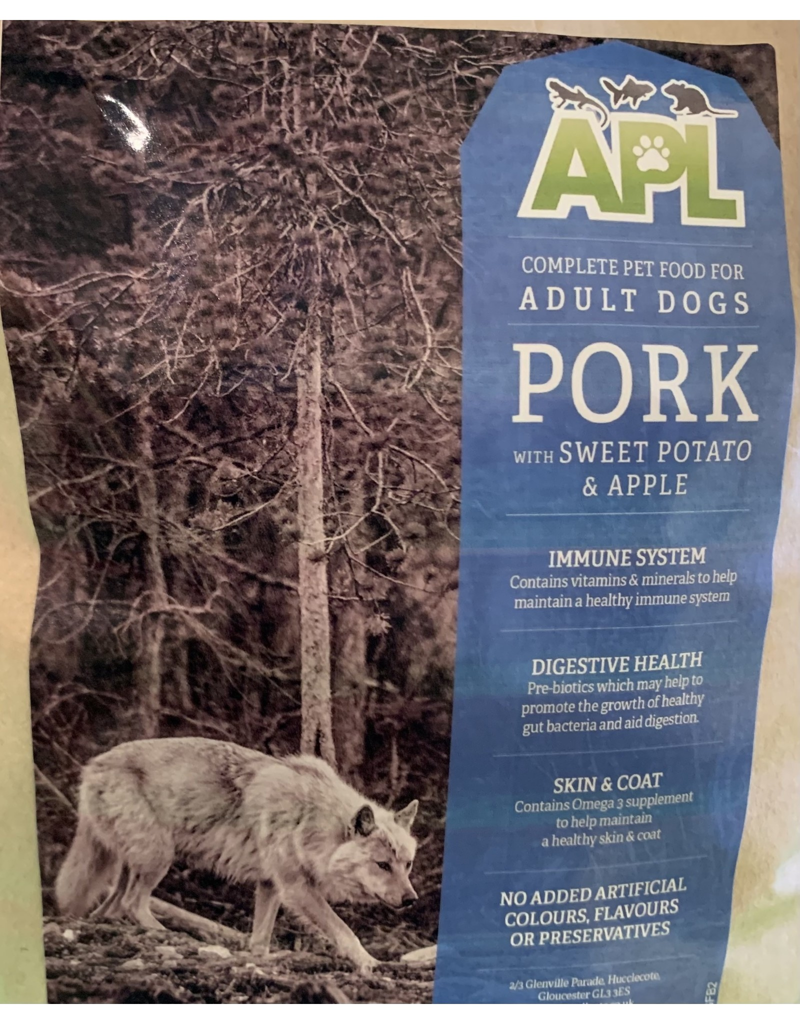 APL APL Grain Free Adult Pork With Sweet Potato And Apple
