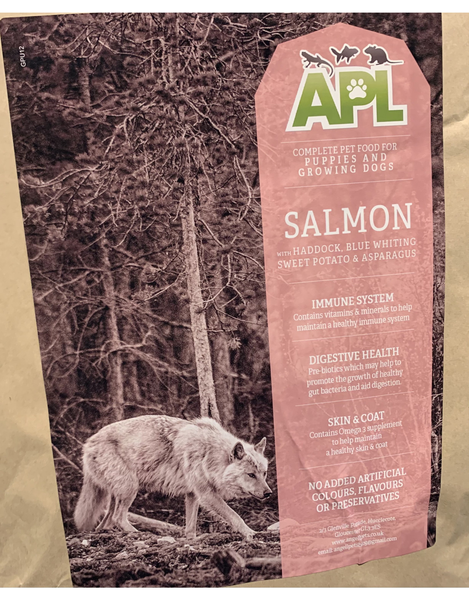 APL APL Grain Free Puppy Salmon, Haddock & Blue Whiting