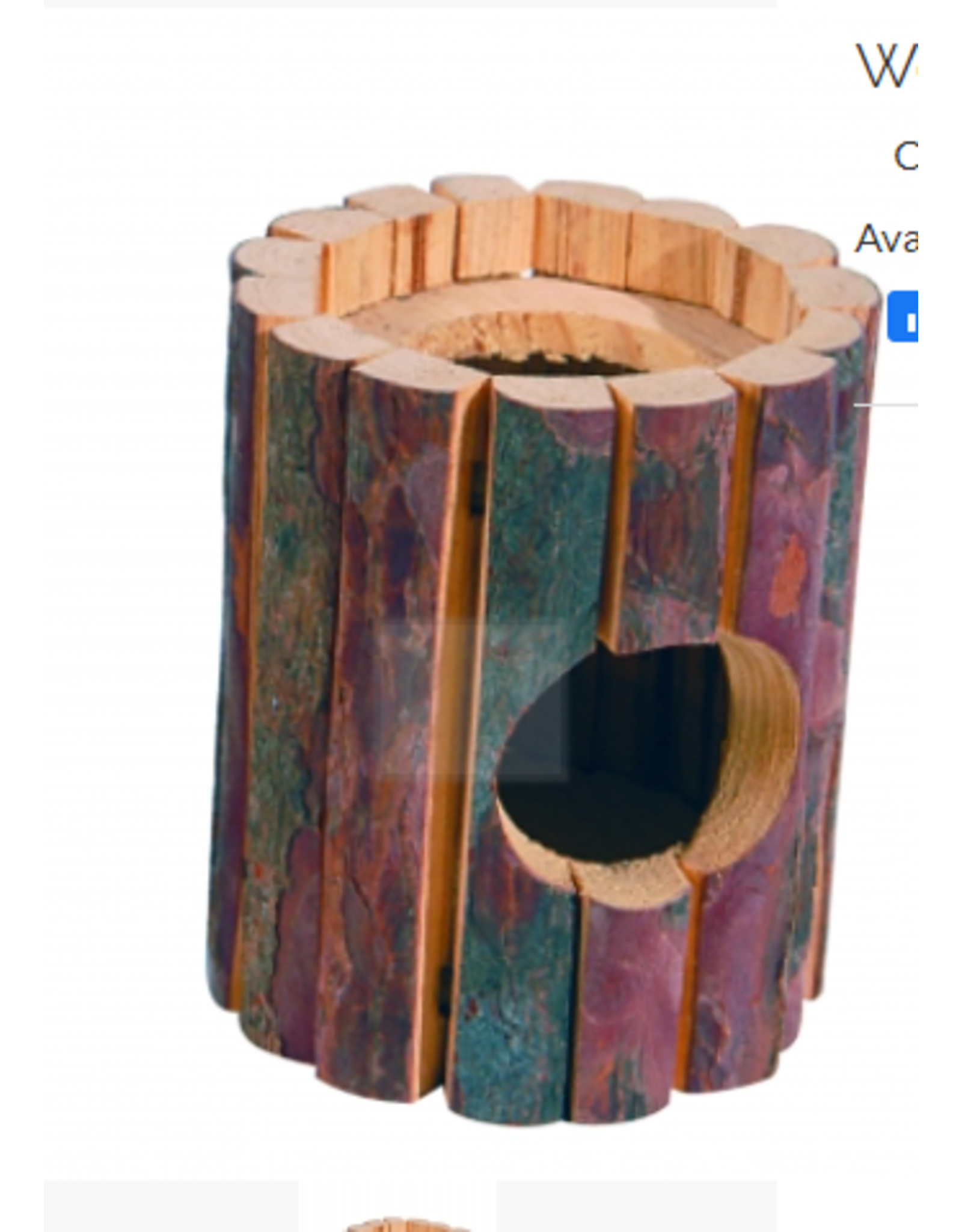 Sky Pet Products Wooden Turret Hideout Large