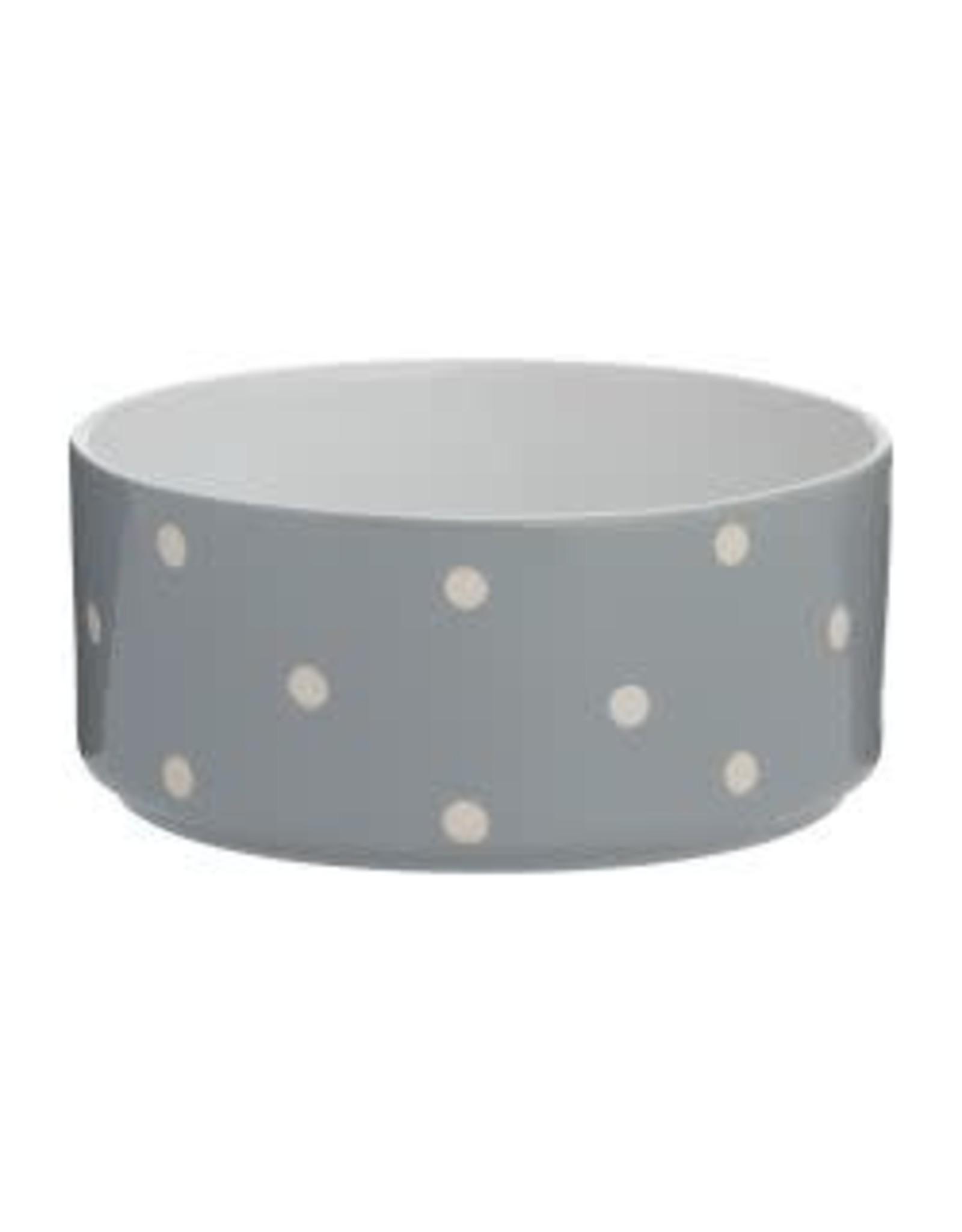 Mason Cash Polka Dot Ceramic Bowl Grey 18cm