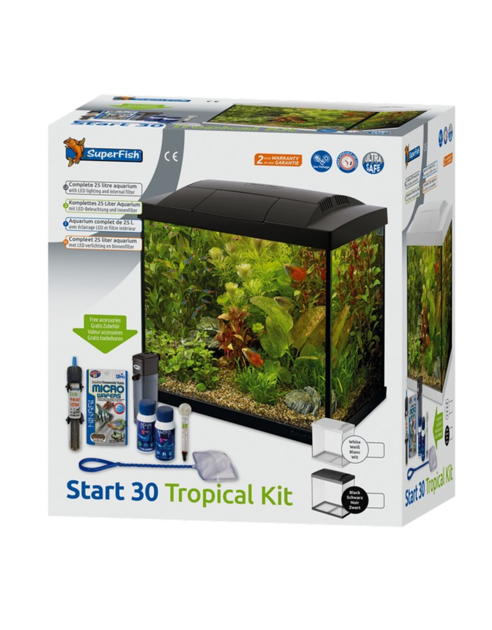SuperFish SF Start 30 Tropical Kit Black