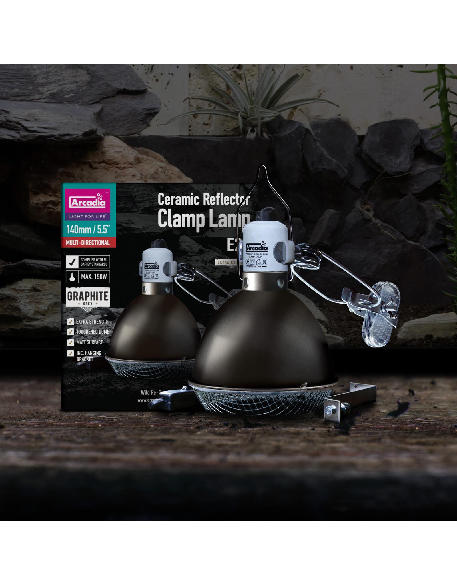 Arcadia AR Ceramic Reflector Clamp Lamp Small Graphite