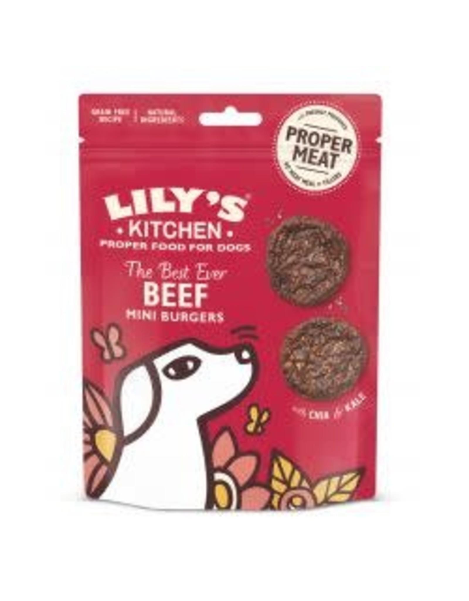 Lilys Kitchen LK Dog Beef Mini Burger 70g