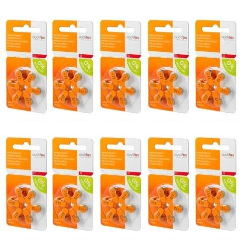 Audifon Audifon P13 (PR48) Orange Hörgerätebatterie - Vorteilspaket