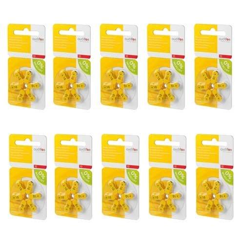 Audifon Audifon 10 (PR70) Gelbe Hörgerätebatterie - Vorteilspaket