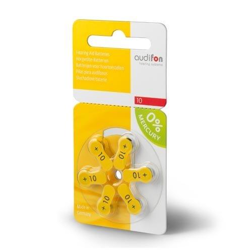 Audifon Audifon 10 (PR70) Gelbe Hörgerätebatterie