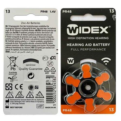 Widex Widex 13 (PR48) Orange Hörgerätebatterie - Vorteilspaket