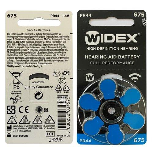 Widex Widex 675 (PR44) Blauw hoorbatterij - Voordeelpakket