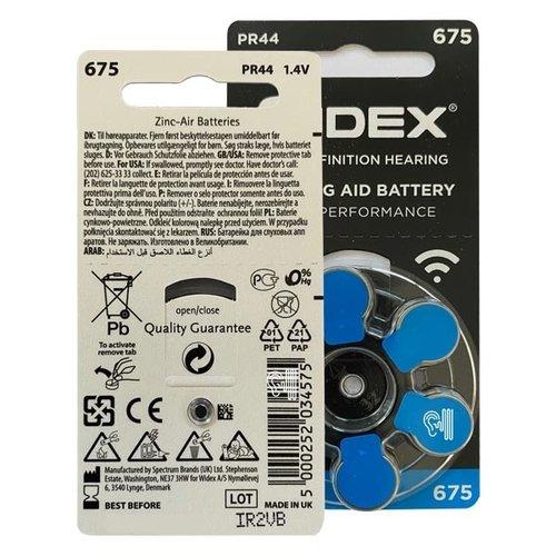 Widex Widex 675 (PR44) Blauw hoorbatterij
