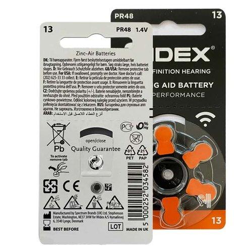 Widex Widex 13 (PR48) Oranje hoorbatterij