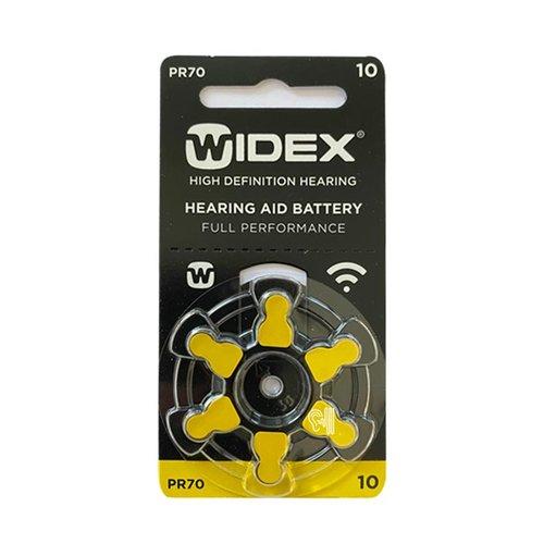 Widex Widex 10 (PR70) Geel hoorbatterij