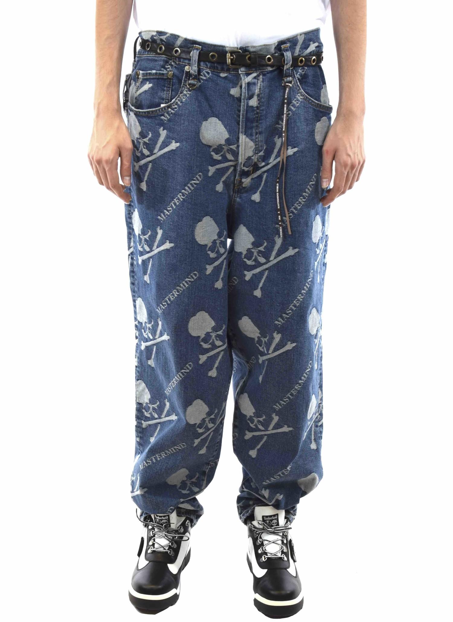 Mastermind World Monogram Denim Jeans Pants Blue Halo Halo