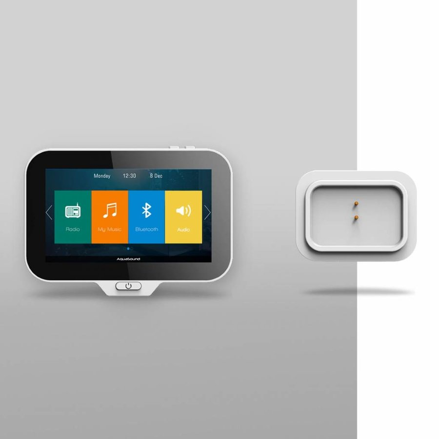 Music Center N-Joy Controller (Ipx7) + Wand Lader + Mini-Box / 50 Watt (zonder speakers)