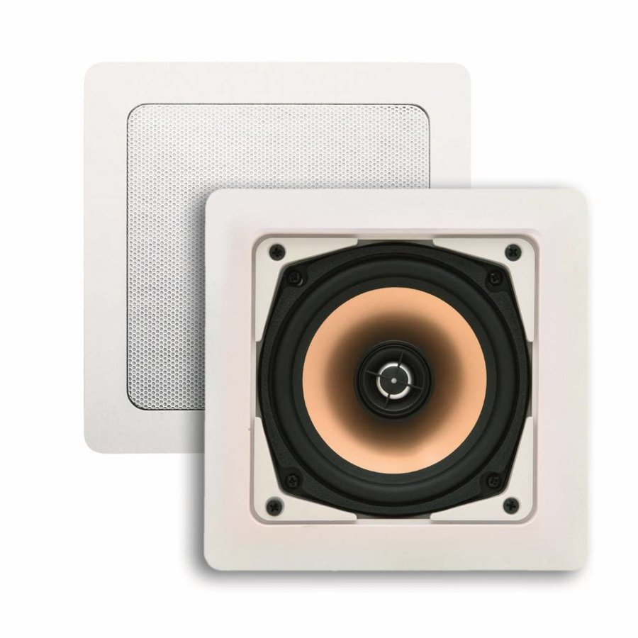 Speakerset Samba (draaibare Tweeter) Wit Vierkant 177x177 mm