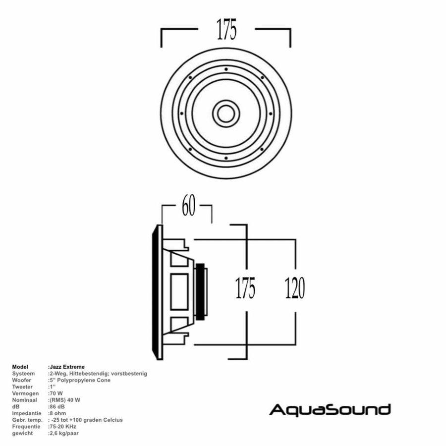 Speaker Jazz Waterdicht Hitte bestendig Vorstbestendig 40 Watt Wit Rond Ø 175 mm