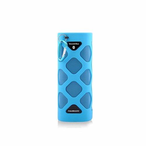 NIET MEER LEVERBAAR Bluetooth Sound-Box Waterproof (IPX5) + USB oplaadkabel Blauw