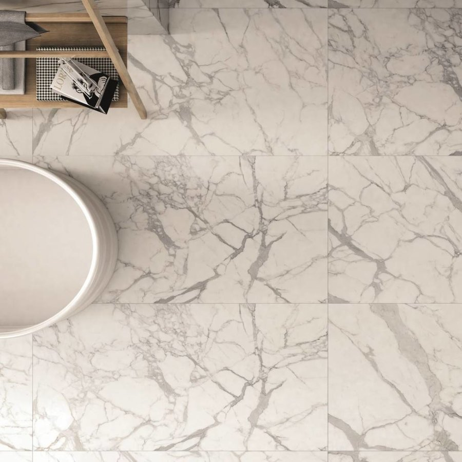 Vloertegel Lux Calacatta 120x240 cm Per stuk