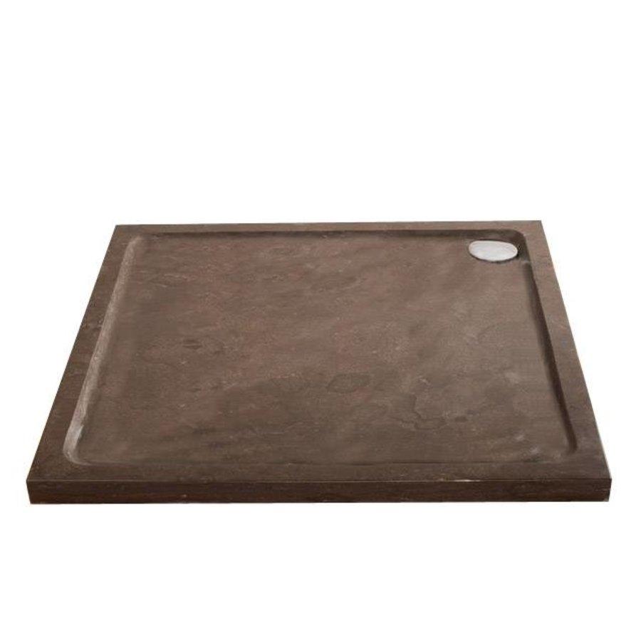 Hardstenen douchebak 100x100x5 cm vierkant