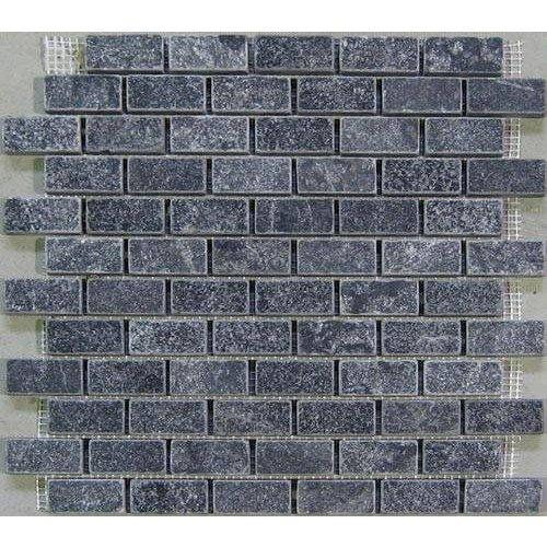 Marmer mozaiek Karia black 2,5 x 5 x 1 cm P/M²