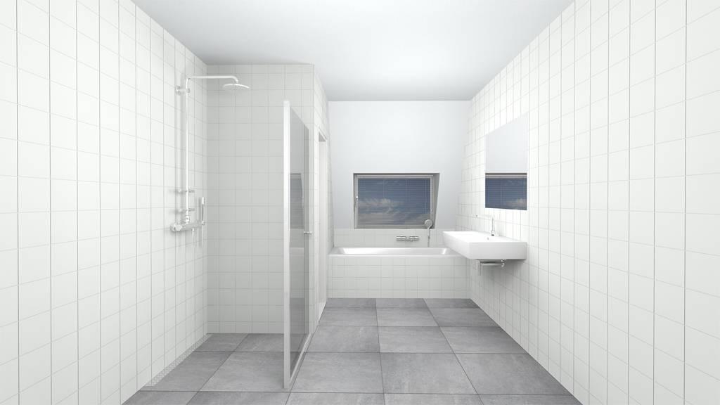 Badkamer Tegels Wit.Wandtegel 15x15 Hoogglans Wit P M