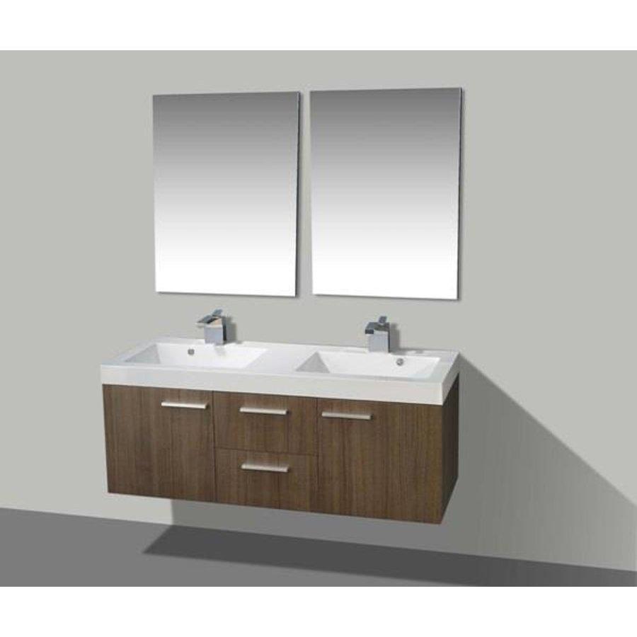 Badmeubel California 131 cm Grey Oak met Spiegels