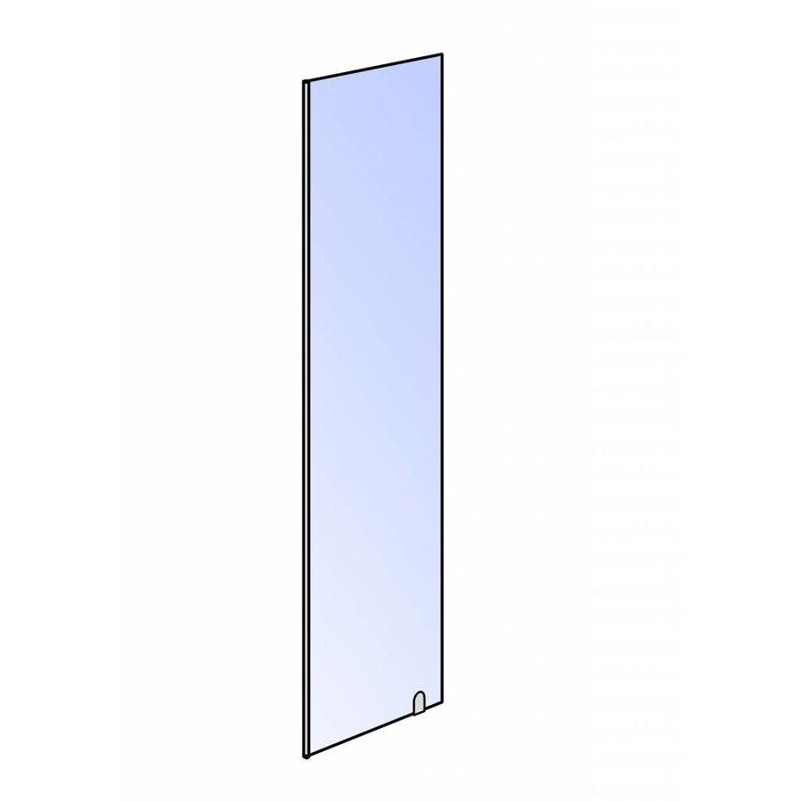 losse klik zijwand 40x200 cm met hoek profiel