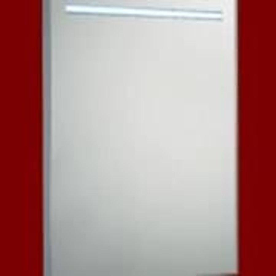 Spiegel 58cm Aluminium met LED Verlichting en schakelaar