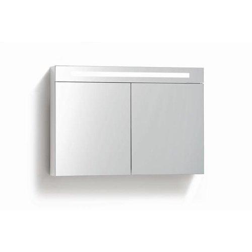Spiegelkast 80 cm met TL Verlichting en stopcontact 4 kleuren leverbaar