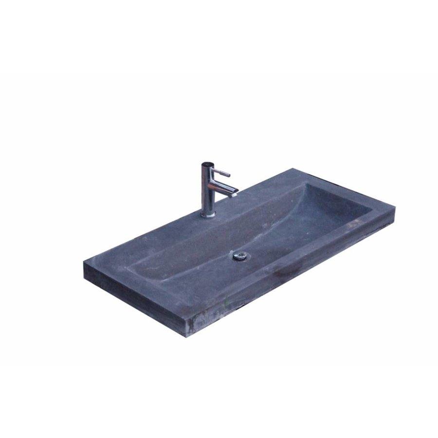 Hardsteen wastafel Compact Stone 80x38x5 cm