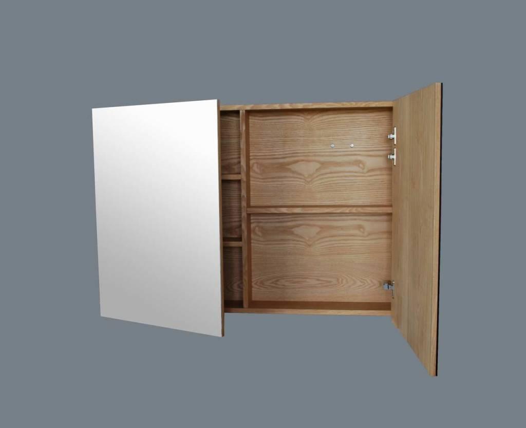 Badkamer Spiegelkast 100cm : Spiegelkast wood cm megadump dalen megadump dalen