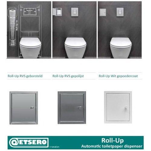 Roll-up automatische Toiletpapier Inbouw (voor 6 rollen)