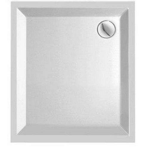 Kwadrant kunststof douchebak rechthoekig 90x80x5 cm wit