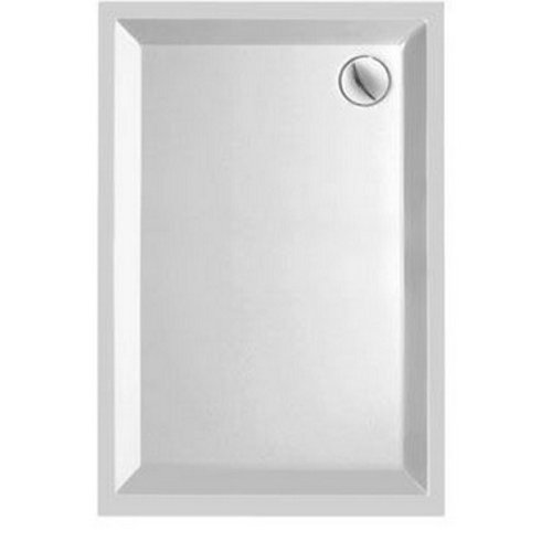 Kwadrant kunststof douchebak rechthoekig 120x90x5 cm wit
