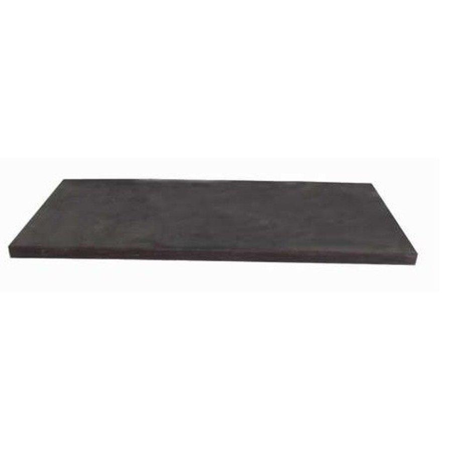Natuurstenen meubelblad zwart 120cm