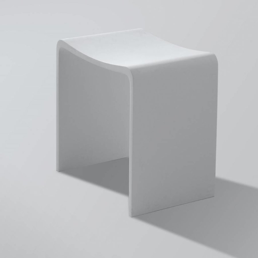 Badkamer Kruk Solid Surface 40X30X42.5 Cm Wit