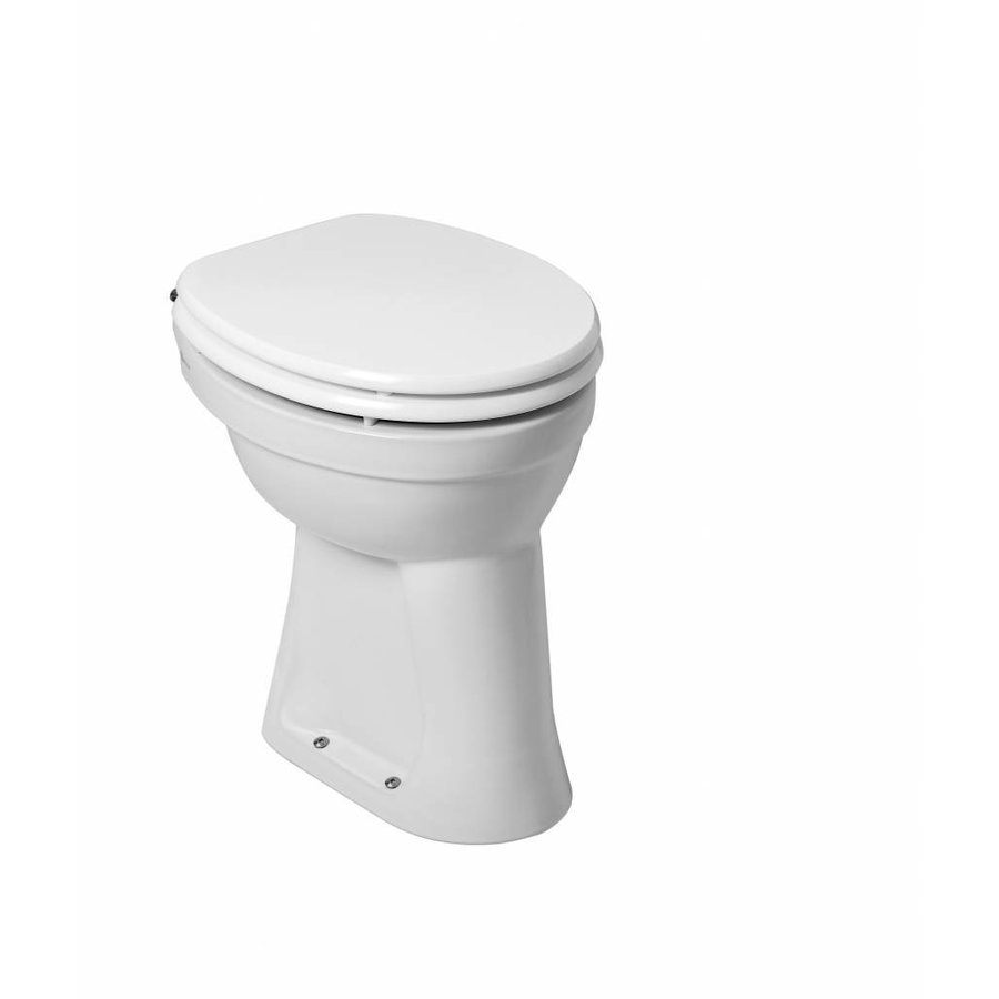 Staande Verhoogde Toiletpot Met Vlakspoel